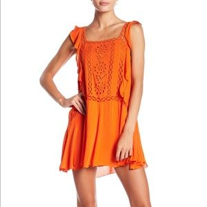 Free People Priscilla Eyelet Dress (Orange/Medium)